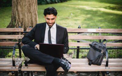 Glück auf dem Arbeitsplatz ist mehr als nur eine Businesstasche